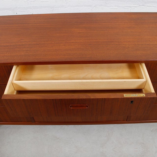 Falster Danish Modern Nine-Drawer Teak Dresser - Image 7 of 10
