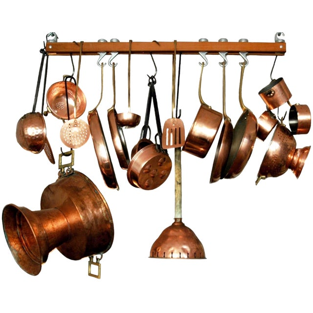 Decorative Copper Cookware Collection - 21 Pieces - Image 1 of 10