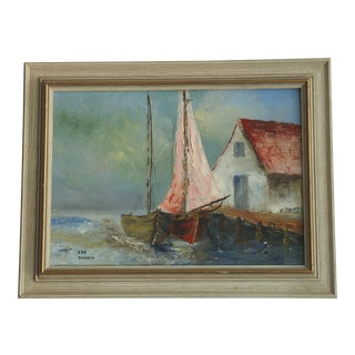 """Sailboats at Dock"" by Iris Davisson"