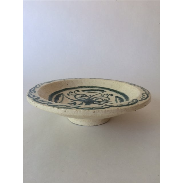 Vintage Footed Ceramic Bowl - Image 5 of 11