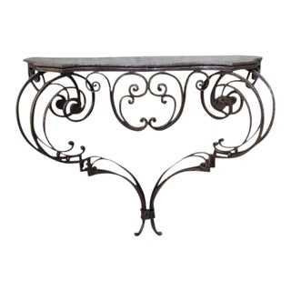 19th Century Wrought Iron Console