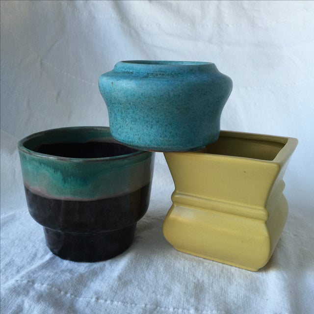 Pottery Planters - Set of 3 - Image 2 of 11