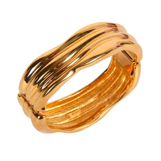 Monet Gold Toned Hinged Bracelet