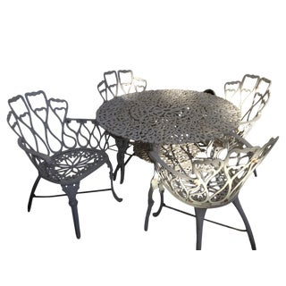 White Outdoor Bistro Dining Set