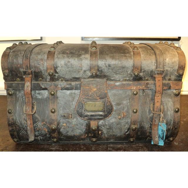 Antique Storage Trunk - Image 2 of 11