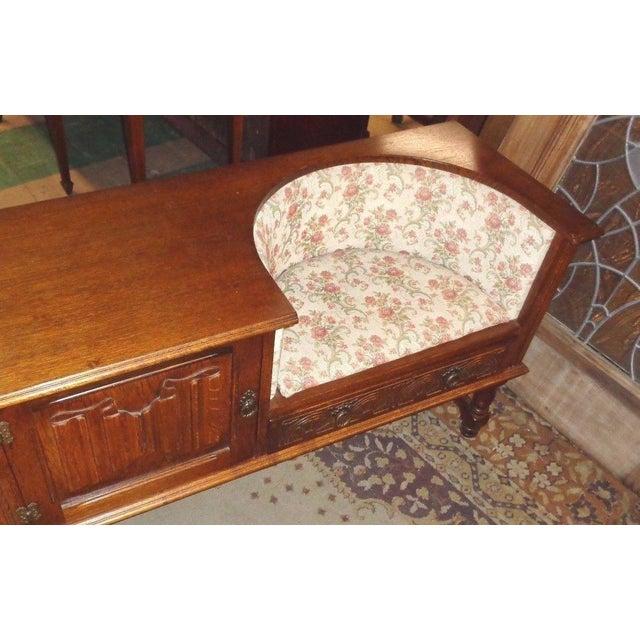 Edwardian Mid-Century Telephone Sofa Bench - Image 8 of 11