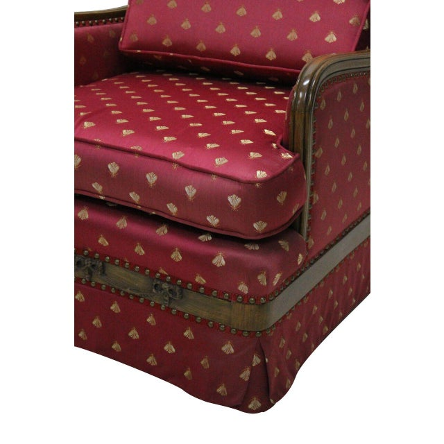 Chair Amp Ottoman In Burgundy Bee Upholstery Chairish