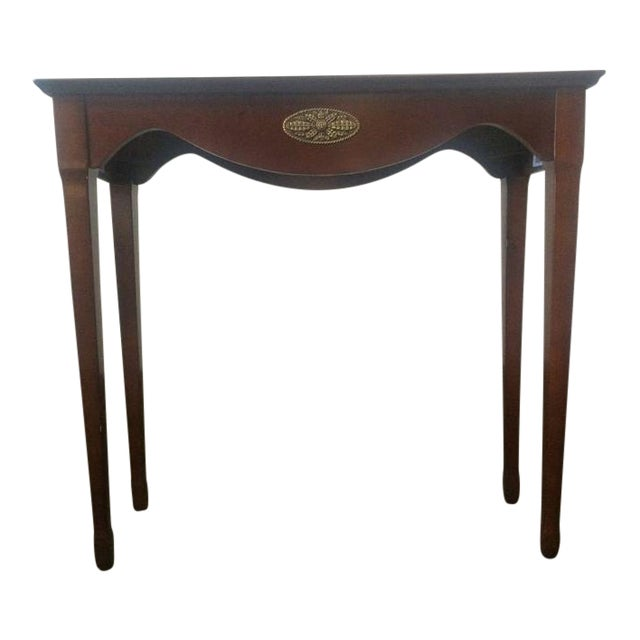 The Bombay Company Carved Mahogany Side Table - Image 1 of 3