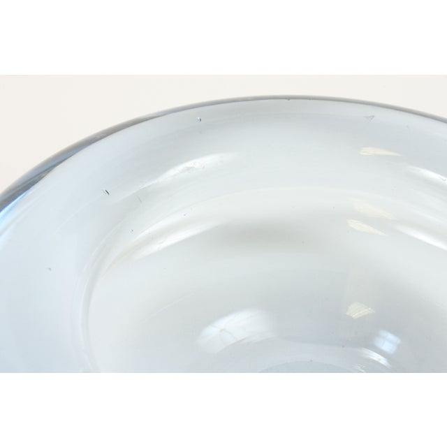 Image of Holmegaard Clear Blue Art Glass Ashtray