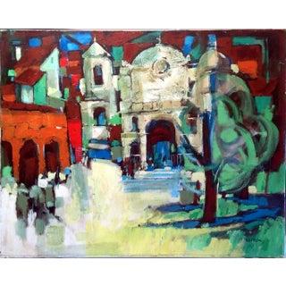 """Blue Shadows"" Streetscape by Bob Peck"