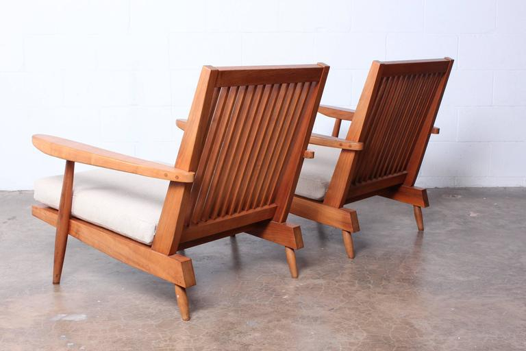 Pair Of Spindle Back Lounge Chair By George Nakashima   Image 9 Of 10