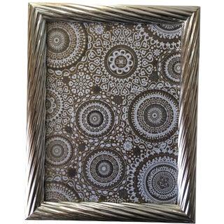 "Italian Silver 9""x12"" Frame-Wood Easel Back"