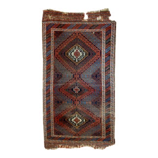 """1900s Antique Collectible Afghan Baluch Rug - 2'5"""" x 5'10"""""""
