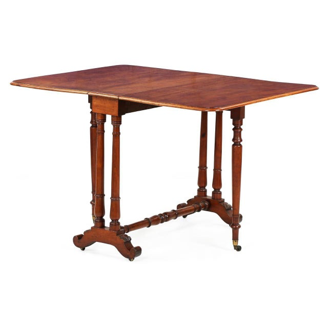 English regency mahogany sunderland drop leaf table 19th for Table th width