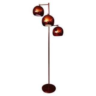 Koch and Lowy Adjustable Copper Floor Lamp