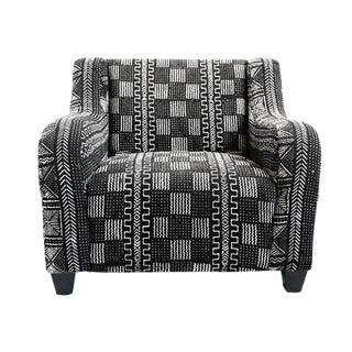 Black & White Mud Cloth Racer Chair