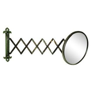 Antique Green Accordion Shaving Mirror