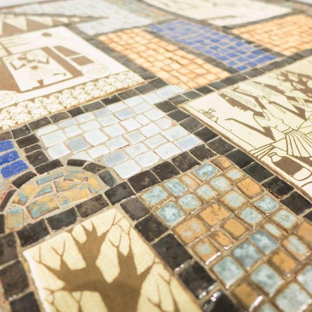 David Holleman Ceramic Mosaic Table - Image 7 of 10