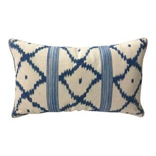Vintage Schumacher Linen Lumbar Pillow