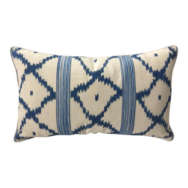 Vintage Schumacher Linen Lumbar Pillow - Image 1 of 2