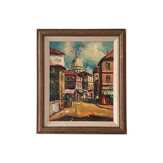 1950s French Oil Painting, Sacre Coeur