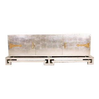 Mexican Modernist Credenza in Silver by Frank Kyle