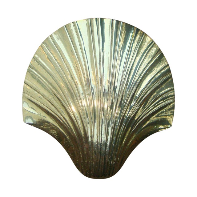 Image of Art Deco Brass Seashell Candy Box