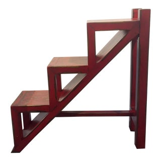 Red Ladder Side Table