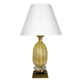 Vintage Yellow Murano Table Lamp
