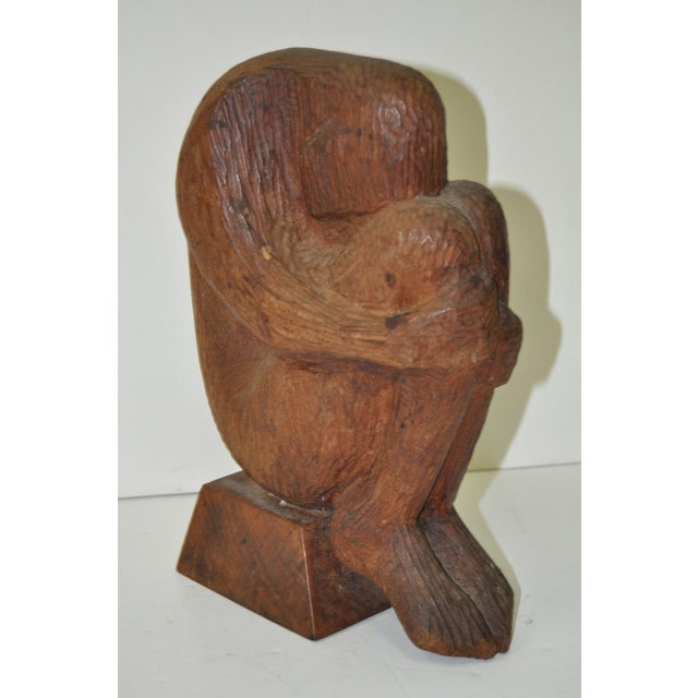 Mid Modern Wood Sculpture C.1960 - Image 3 of 7