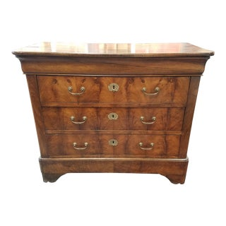 Walnut Burlwood French Chest