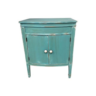 Contemporary Teal Matching Side Tables