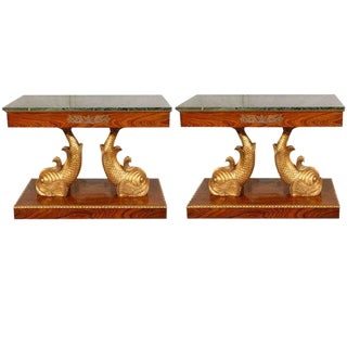 Dolphin Entry Console Tables - A Pair