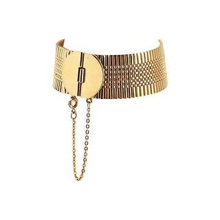 Napier Goldtone Bracelet with Safety Chain