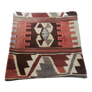 Old CaucasianTribal Kilim Pillow Cover