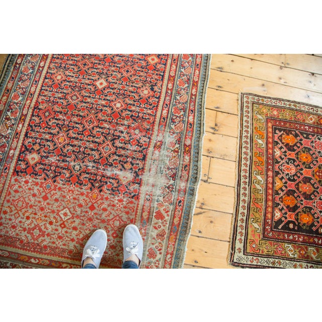 """Distressed Antique Malayer Rug - 4'1"""" X 6' - Image 3 of 8"""