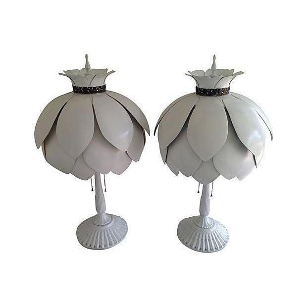 Image of Mid-Century Artichoke Lamps - A Pair