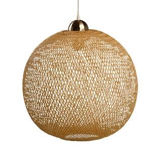 Wicker Weave Globe Lantern