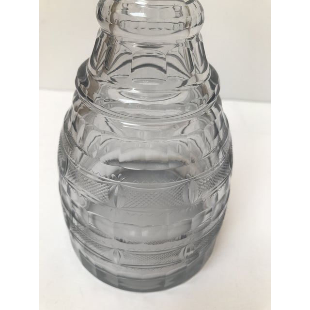 Vintage Smoked Glass Decanter - Image 5 of 6