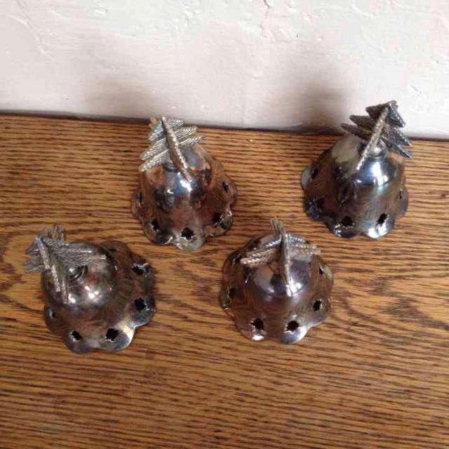 Image of Vintage Silverplated Bells - Set of 4