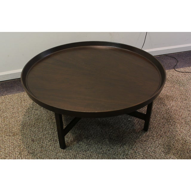 Mid-Century Modern Baker Round Flared Coffee Table - Image 4 of 11