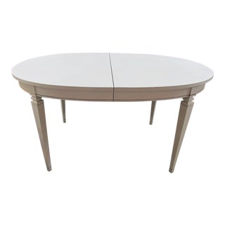 White Painted Oval Dining Table