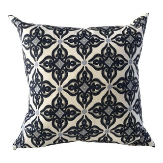 Custom Designer Indigo Linen Pillow