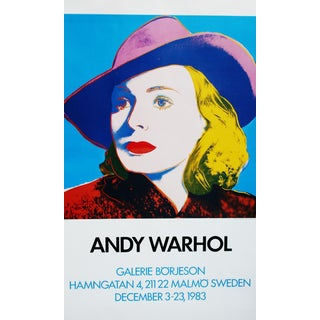 Andy Warhol Ingrid With Hat 1983 Poster