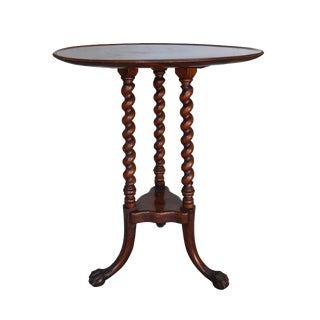Mahogany Claw and Ball Barley Twist Table