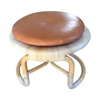 Bassam Fellows Cognac Round Stool