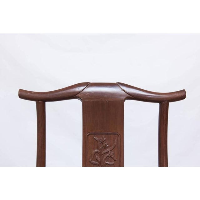 Chinese Yoke Back Officials Hat Chairs - Set of 6 - Image 6 of 10