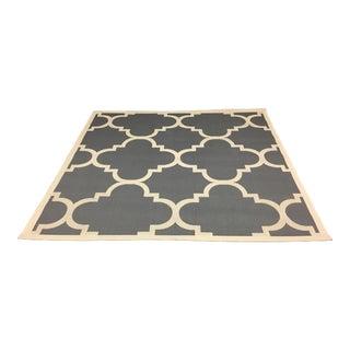Safavieh Gray & Cream Patterned Indoor/Outdoor Rug - 6′5″ × 6′7″