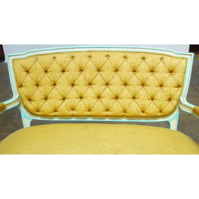 French Louis XVI Painted Canape Settee - Image 3 of 6