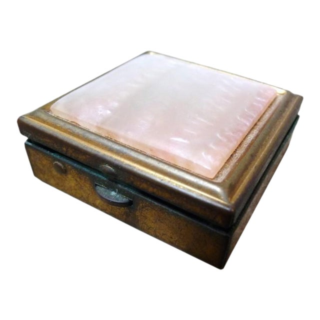Vintage Brass & Mother of Pearl Pill Box - Image 1 of 5